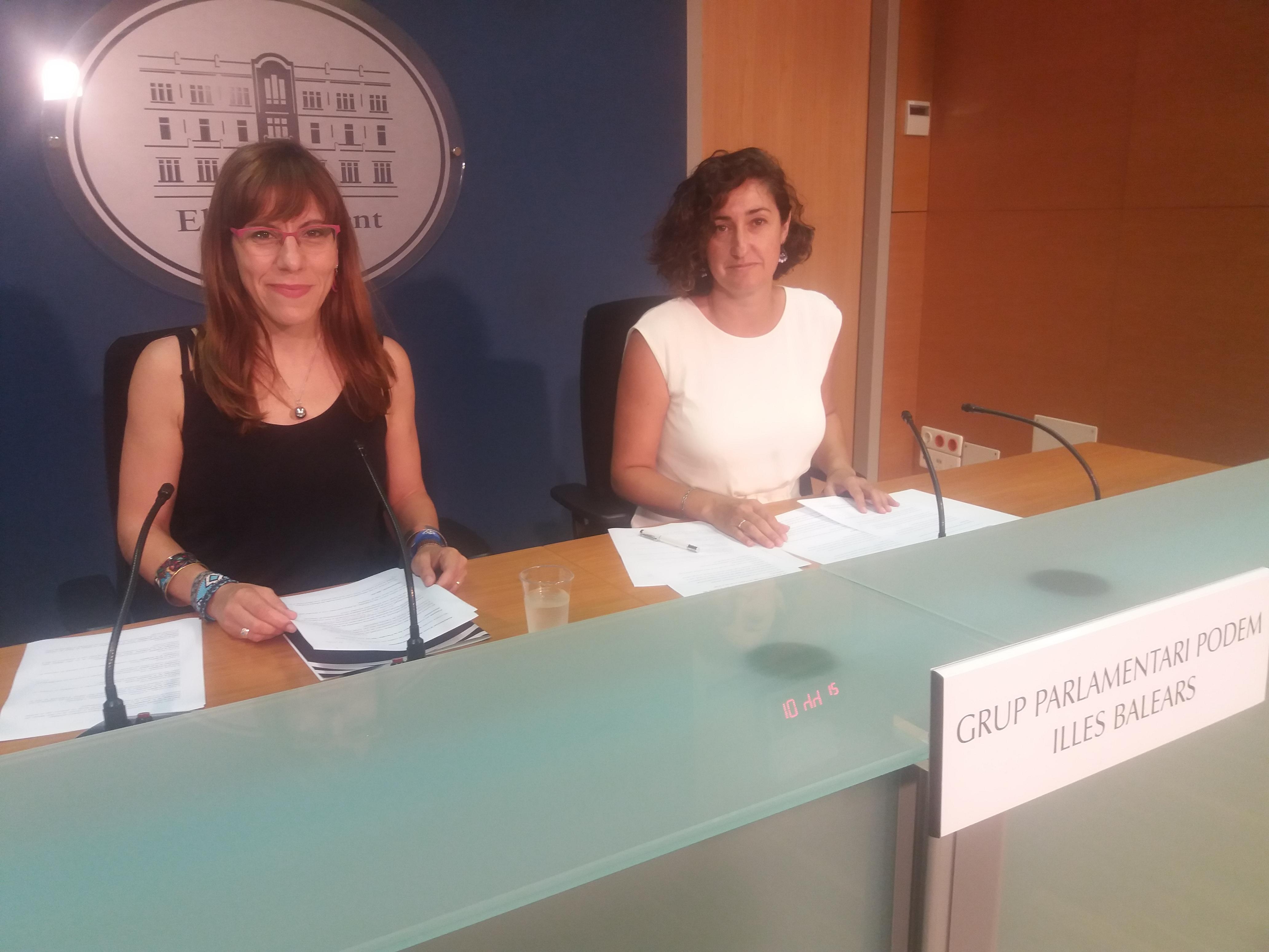 Laura Camargo y Marta Maicas, Parlamentarias de Podemos en las Islas Baleares