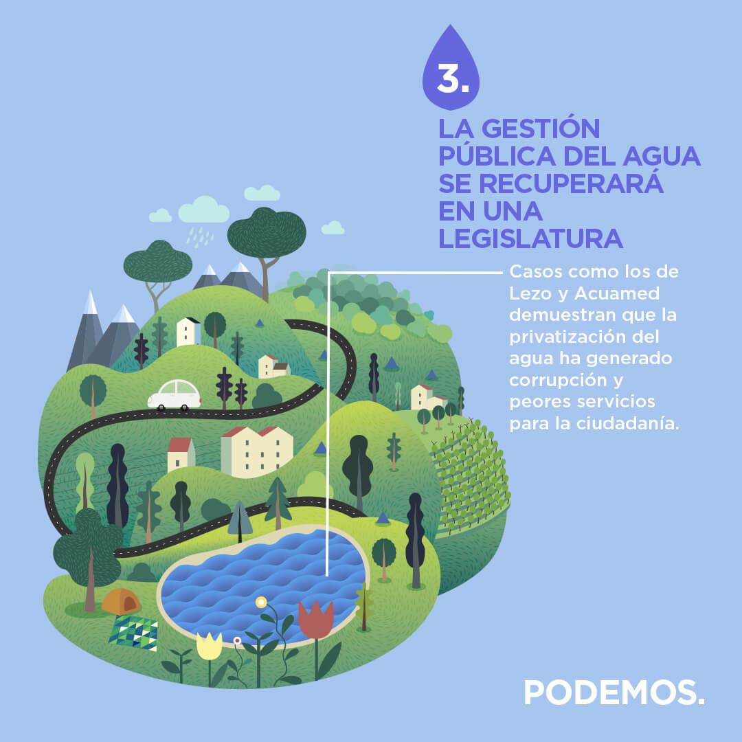 La gestión pública del agua se recuperará en una legislatura