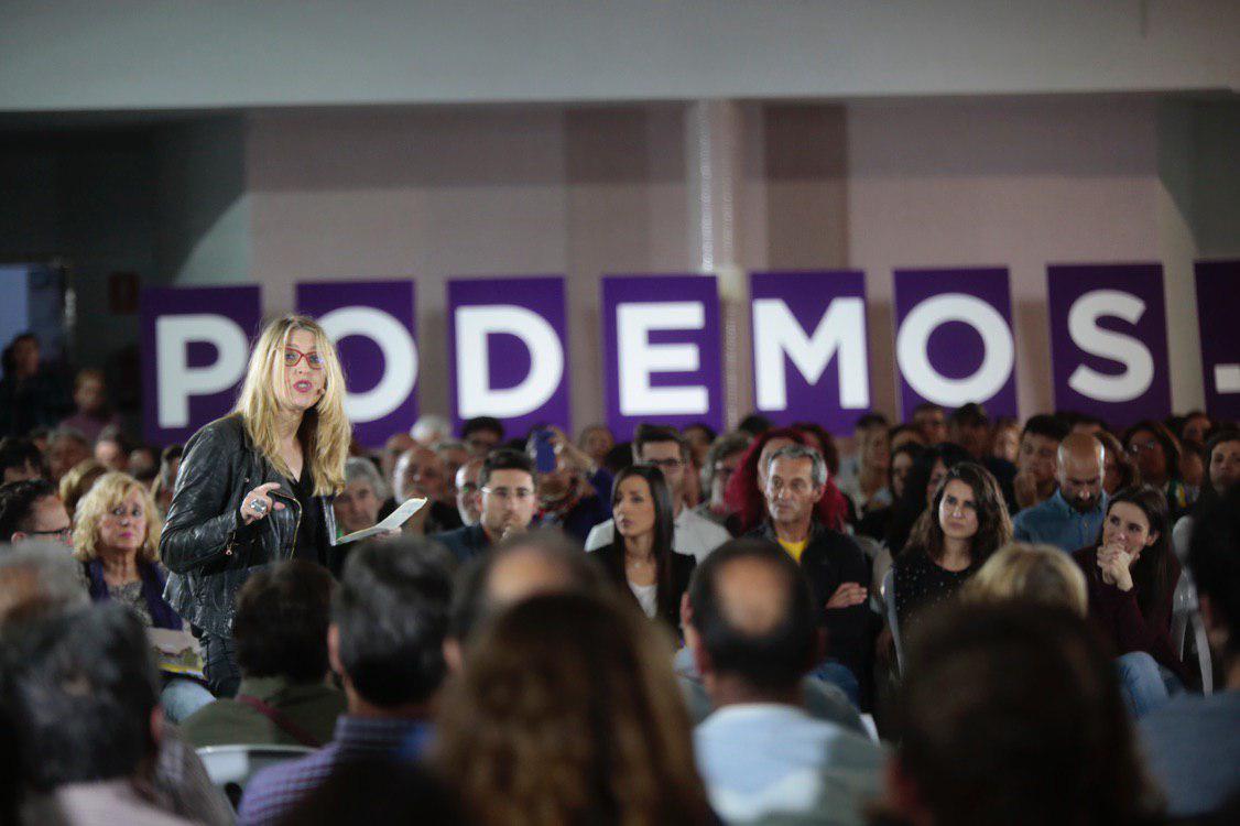 Acto de presentación de candidaturas electorales de Unidas Podemos en Mérida. FOTO: IRENE LINGUA