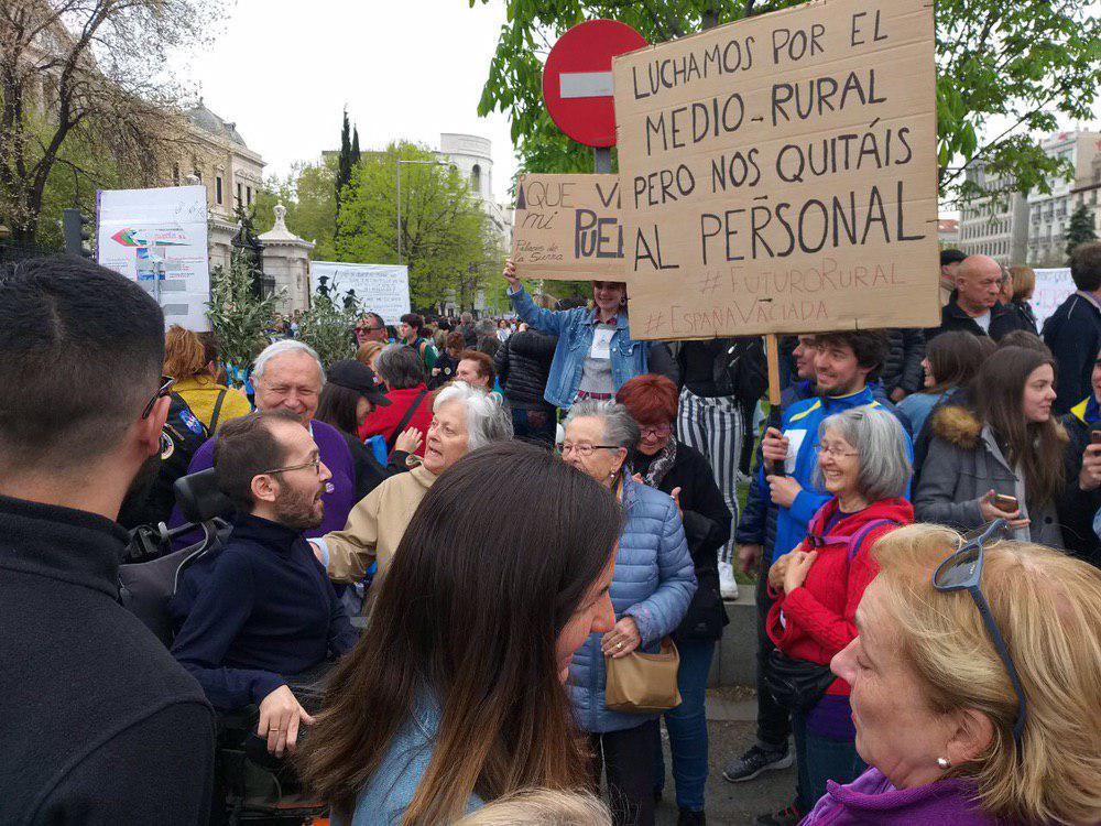 Podemos participa en la manifestación 'Revuelta por la España vaciada' contra la despoblación rural