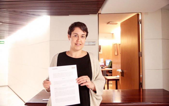 Teresa Arévalo, diputada de Podemos. FOTO: IRENE LINGUA