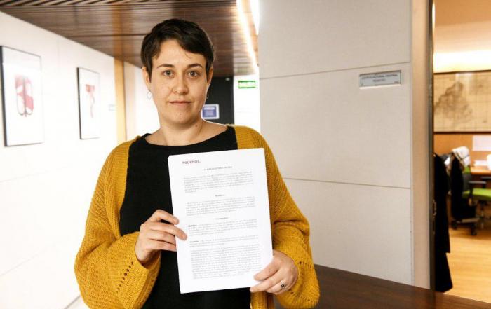Teresa Arévalo, diputada de Unidas Podemos. FOTO: DANI GAGO