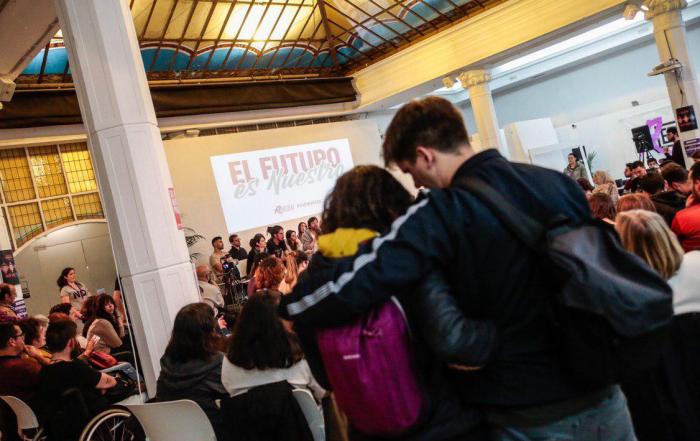Imágenes del acto 'El futuro es nuestro' celebrado en Madrid. FOTO: IRENE LINGUA