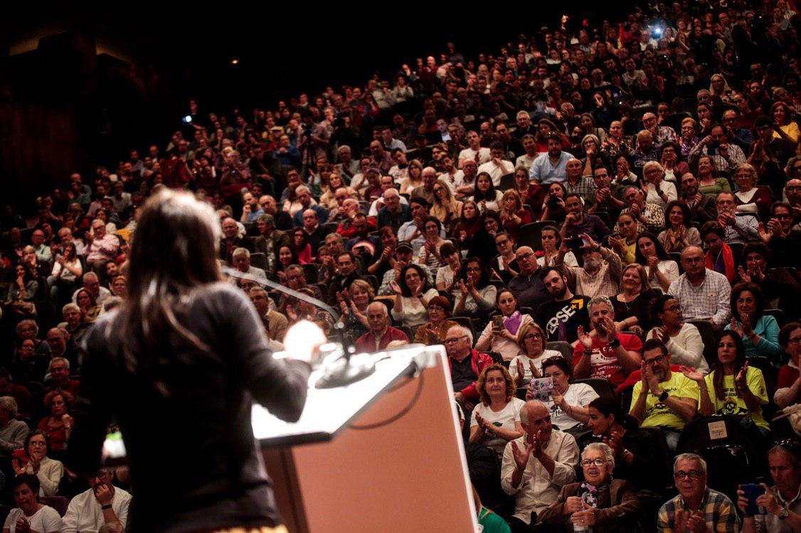 Irene Montero en el Palacio de Ferias y Congresos de Málaga. FOTO: IRENE LINGUA