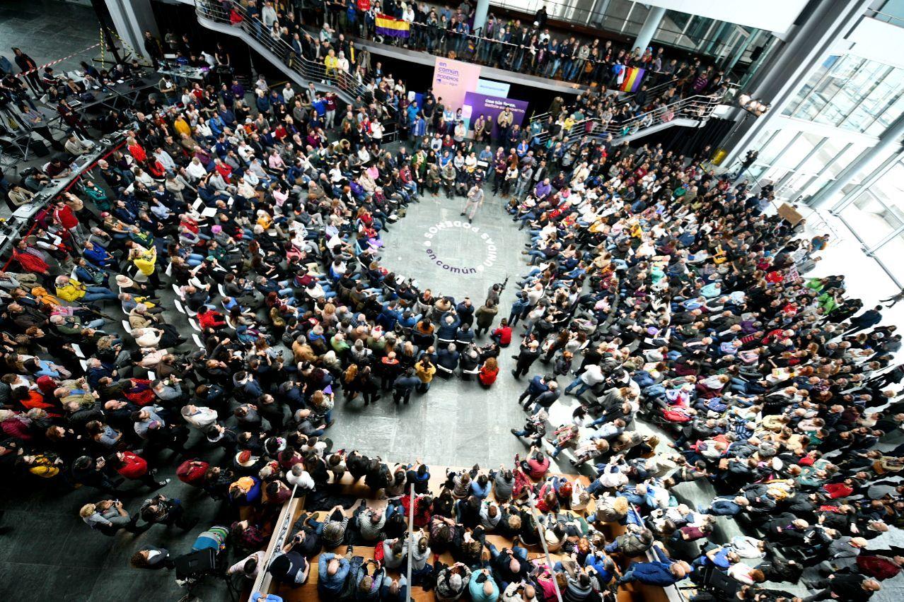 Pablo Iglesias en el acto de Vigo. Foto: DANI GAGO