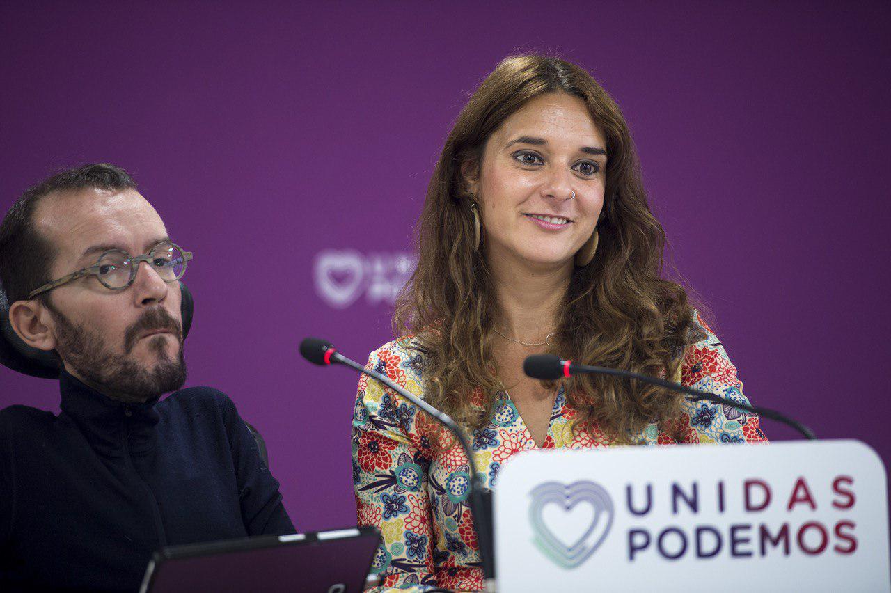 Pablo Echenique y Noelia Vera durante la rueda de prensa tras el Consejo de Coordinación