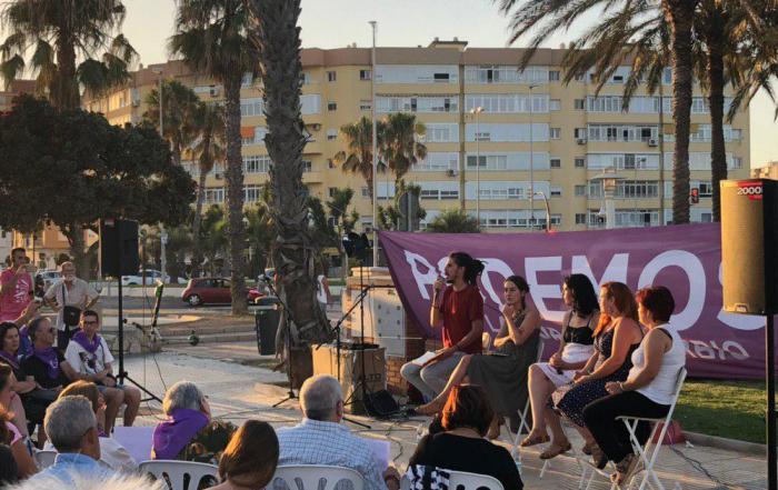 De izquierda a derecha: Alberto Rodríguez, Ana Marcello, Eva García Sempere, Vanessa García y Paqui Macías