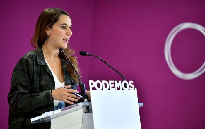 Noelia Vera, portavoz del Consejo de Coordinación de Podemos