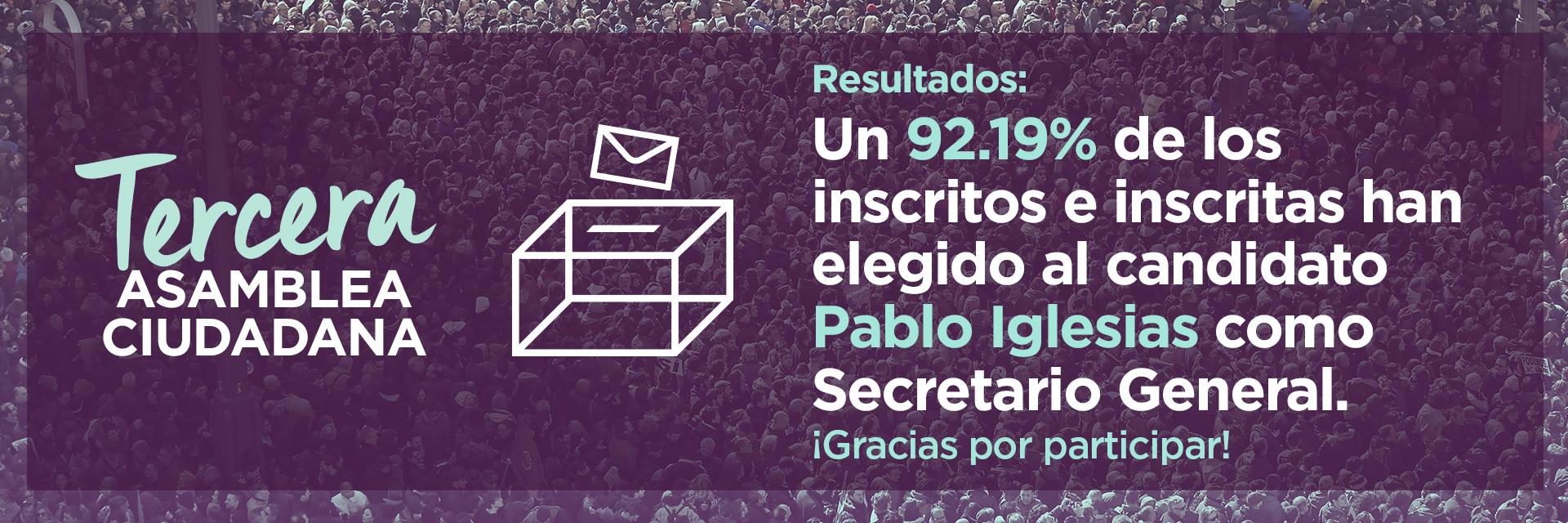 Resultados de la Tercera Asamblea Ciudadana Estatal