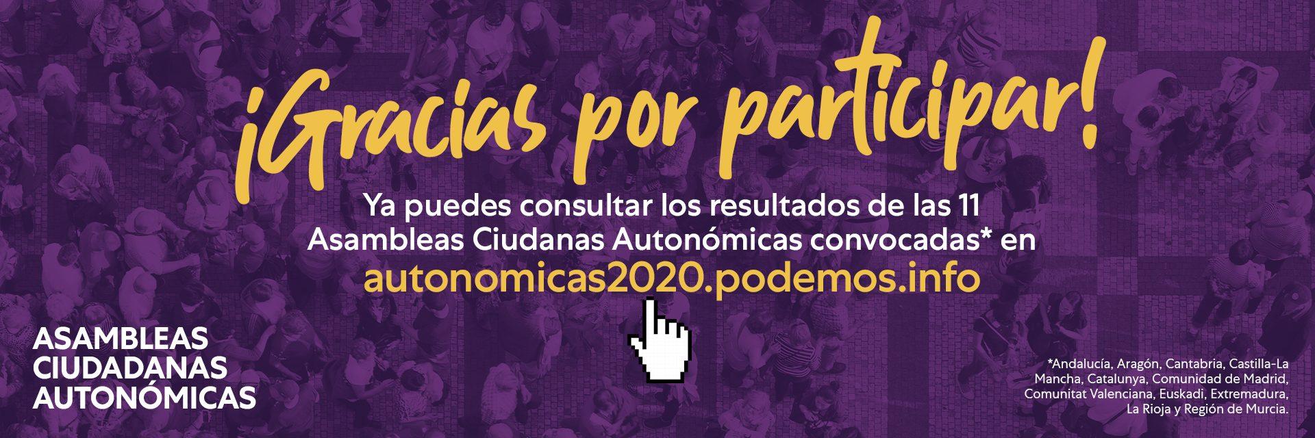 Resultados de las Asambleas Ciudadanas Autonómicas